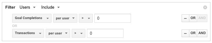 converters google analytics advanced segments