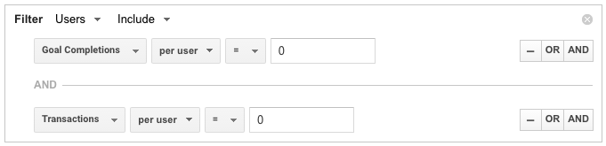 non-converters google analytics advanced segments